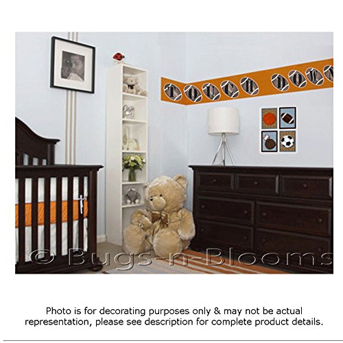 Wall Letters j Football Custom Letter Children's Nursery Baby's Room Baby Name Boys Bedroom Decor Alphabet Initial Vinyl Stickers Decals Kids Decorations Playroom Home Decal Ball Sport Girls