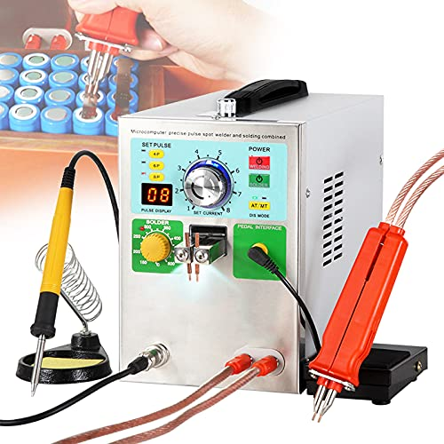 FRIBLSKEL 3.2 KW Máquina Automática Soldadura Puntos Batería Soldador Puntos Bateria Mini con Iluminación LED/Pantalla Digital/Sistema Enfriamiento Pluma Soldadura Puntos Pulso