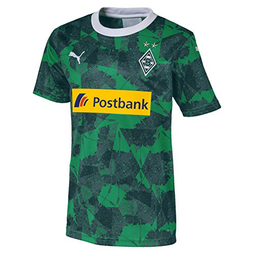 PUMA Kinder BMG Third Shirt Replica Jr with sponsor Trikot, Amazon Green Black, 164