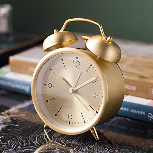Generic Wecker Kreativ stumm Metall mechanisch elektronisch klingelnd Champagner Gold Wake up