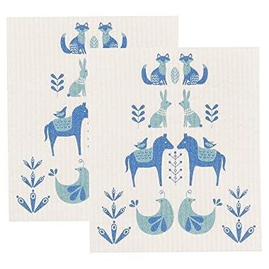 Now Designs Swedish Dishcloth, Set of Two, Meadowland
