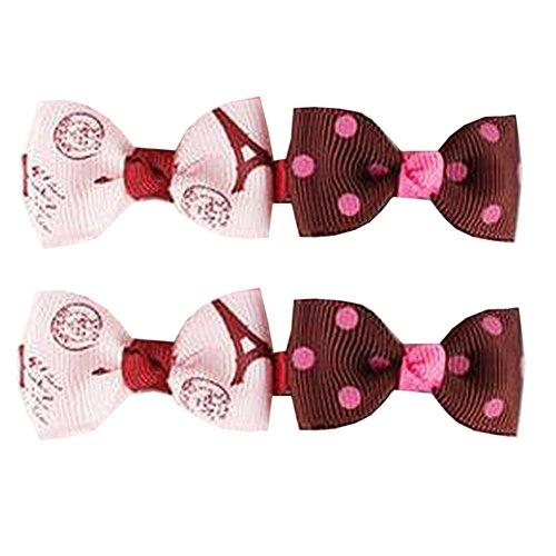 10 paires de beaux clips Ribbon Bébés filles Archets Cheveux enfants Bow cheveux