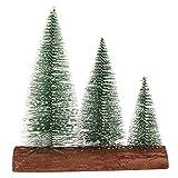 Zwindy Pequeño árbol de Navidad, árbol de Navidad Lindo Ligero Colorido romántico con Pilas Reutilizable,(Triple Warm Light + Flashing Function)