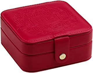 Toiletry Bags Jewelry Box Jewelry Display Box Large-Capacity Dressing Table Cosmetic Storage Box Soft Flannel Jewelry Box Multi-Function Home Jewelry Storage Box (Color : Red, Size : 12 * 12 * 5.5cm)