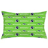 Team ProMark Seattle Seahawks Pillowcase,Soft Pillow Cases for Football Fans,100% Microfiber Pillowcases Protector with Hidden Zipper (Standard Size 20x30inch)