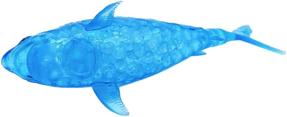 OCD luck-peng Spongy Dolphin Beads Stress Ball Toy A Autism ADHD Squishy Stress Relief Toy Squeeze Ball Toy Sensory Fidget Toy for Kids Adults with Anxiety