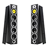 Fenton Pair of Floor Standing HiFi Speakers Tower Columns Home Stereo Audio 600w