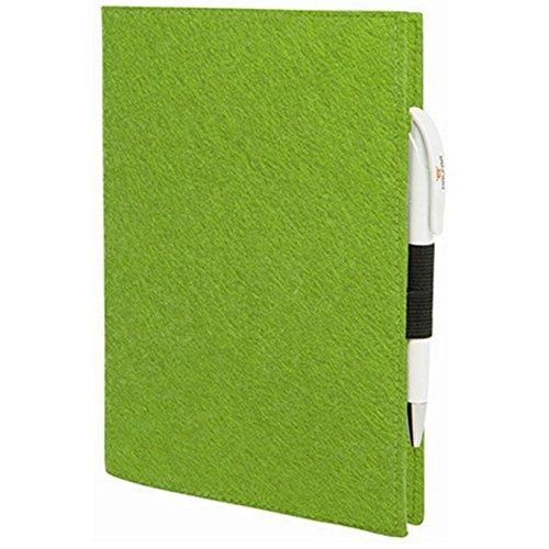 EQT-FASHION Premium Leseschutz Filz Hülle Buch für A4 Notizbücher Filz Buchhülle edler Einband grün