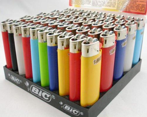 Classic Maxi BIC Feuerzeuge für Gas-Zigaretten, groß, 5 Stück