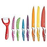 Juego de cuchillos revestidos de cerámica Royalty Line Switzerland 8 piezas