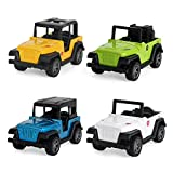 Pull Back Vehicles Toys,4 PCS Model Vehicles Toy Gifts for Baby Toddler Boys Girls