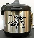 Antique Honeybee Decal Sticker - Black Vinyl Decal Sticker for Instant Pot Instapot Pressure Cooker