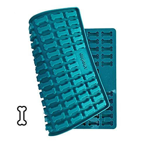 Collory Medium Knochen (3,2cm) Silikon Backmatte, Backform für mittlere DIY Hundekekse und Leckerlis, Knochenbackform, Pralinenform, Schokoladenform, Antihaftend und Lebensmittelecht (BPA-Frei)