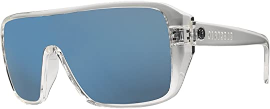 ELECTRIC BLAST SHIELD SUNGLASSES Polished Clear-OHM Grey w/Blue Chrome Mirror
