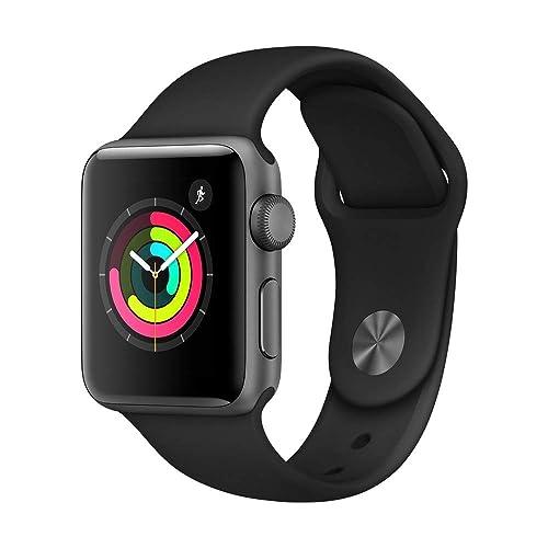 5cea5e4fb Apple Watch Series 3 (GPS, 38mm) - Space Grey Aluminium Case with Black
