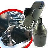 scozzi Universal Handyhalterung Auto Getränkehalter Dosenhalter Handy KFZ Halterung Halter (kompatibel mit Samsung,iPhone,Huawei) S21 S20 S10 S9 S8 A71 A51 P40 12 11 X XS XR 8 Plus Ultra Mini Lite Pro