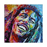 Bob Marley - Póster de lienzo para pared, decoración de salón, dormitorio, decoración, 30 x 30 cm