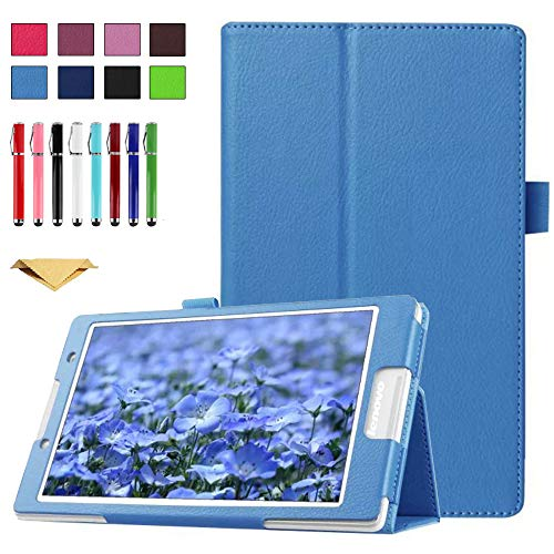 TianTa Funda para Microsoft Surface RT/Surface 2 10.6 Pulgada, PU Cuero Slim Folding Soporte Cover Case con Auto Sleep/Wake para Microsoft Surface RT/Surface 2 10.6 Pulgada, Azul Claro