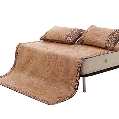 Tapis de textile à la maison Siège de rotin de trois pièces 1.8m se pliant Tapis de climatisation d'été de 1.5m Double siège souple doux de 1.2 Texture douce pour le stockage facile Xuan - worth having ( taille : 150*195cm )