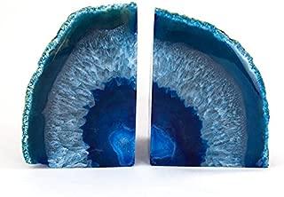 StarStuff.Rocks Blue Agate Book Ends - Made from the finest grade Brazilian agate