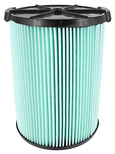 Ridgid - 97457 VF6000 Genuine Replacement 5-Layer Allergen, Fine Dust, and Dirt Wet/Dry Vac Filter for 5-20 Gallon Vacuums Green