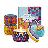 Christmas Gifts for Women 4 Scented Candles Set - Candles for Home Scented, Aromatherapy - Natural Soy Wax and Fragrance - Gifts for Women, Mom, Best Friend, Wife, Sister, Birthday Xmas