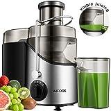 Aicook Entsafter Gemüse und Obst, Zentrifugaler Juicer mit 65MM Breiter Mund, 3 Geschwindigkeiten Edelstahl-Entsafter mit Rutschfeste Füße, BPA-Frei