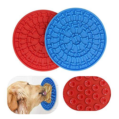 THETAG Hund Lecken Pad, Schleckmatte Hund Katzen Bad Waschen Dusche für Anziehen Haustierbäder...