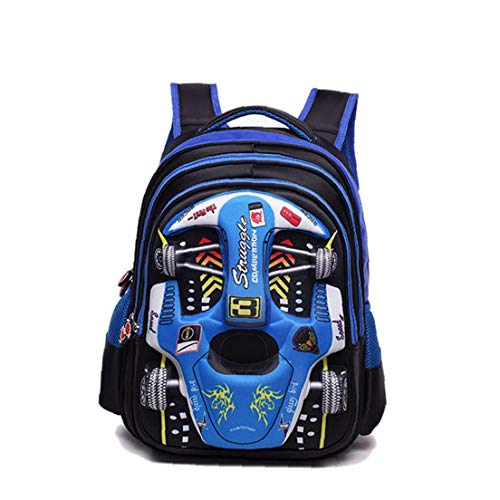 3D Racing Car Children'S Backpack Large Capacity Computer Backpack Cartoon Waterproof School Bags For Your Child