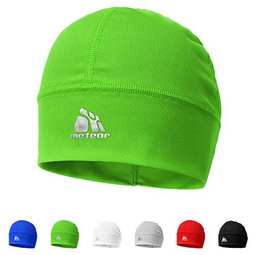 meteor® Ghost la avec ions argent - Bonnet coupe-vent unisexe Skull Cap Idéal comme un chapeau pour casque de vélo, Courir, le ski, snowbording, jogging, ou comme - Sous-casque, Adulte (unisexe) (vert)