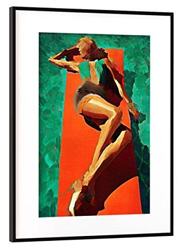 artboxONE Poster mit Rahmen Schwarz (Metallic) 75x50 cm Sun Bathing von Boris Draschoff - gerahmtes Poster