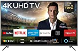 TCL 43EP640 Fernseher 108 cm (43 Zoll) Smart TV (4K UHD, HDR 10, Triple Tuner, Android TV, Micro Dimming, Prime Video, Alexa und Google Assistant) Schwarz [Modelljahr 2019]