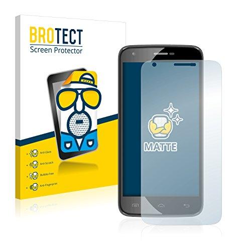 BROTECT 2X Entspiegelungs-Schutzfolie kompatibel mit Doogee Valencia 2 Y100 Pro Bildschirmschutz-Folie Matt, Anti-Reflex, Anti-Fingerprint