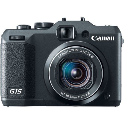 Canon PowerShot G15 12MP Digital Camera with 3-Inch LCD (Black) (OLD MODEL)
