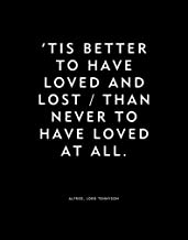 Home Decor Wall Art - 'Tis better to have loved and lost/Than never to have loved at all - Tennyson Love Quote Print Black And White Poster