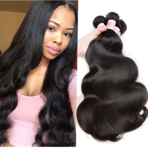 Hermosa Hair Malaysian Body Wave Hair 4 Bundles 100% Unprocessed 8A Malaysian Remy Human Hair...