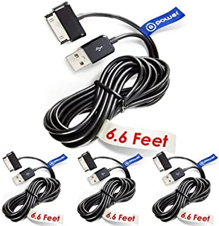 T POWER 4 x pcs 30-pin (6.6 ft Long Cable) Compatible with Samsung Galaxy Tab Note 7.0 7.7 8.9 10.1 Galaxy Tab 7