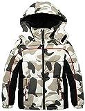 Wantdo Boy Water Repellent Outdoor Winter Coat Warm Puffer Jacket White Camo 6/7