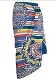 Secaneta Pareos de Playa Multicolor tamaño Grande de 150x100cm Toallas de Playa Mod. Judith (Azul)