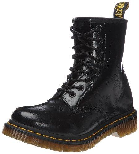 Dr. Martens 1460 - Botas Militares de Mujer, Negro (Black Smooth Leather), 42 EU