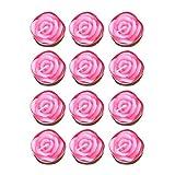 OSALADI 12 Pezzi di Candele a Forma di Fiore di Rosa 2 Ore di candeline deliziose Candele ...
