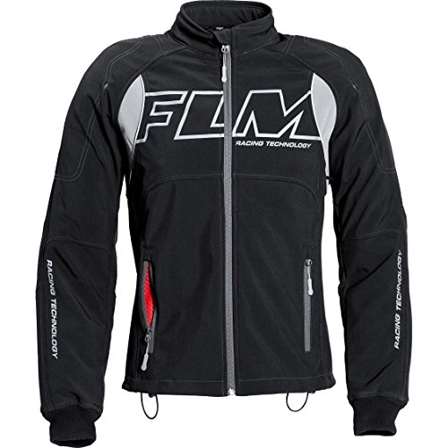 FLM Motorradjacke mit Protektoren Motorrad Jacke Sports Softshelljacke mit Protektoren 1.0 schwarz M, Herren, Sportler, Ganzjährig, Textil