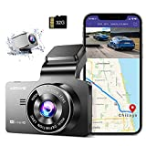 AZDOME M63 4K WiFi GPS Car Dash Cam 3' IPS UHD 3840x2160P + 1080P Dual LensDashboard Camera Recorder 150° Wide Angle with Night Vision, WDR, Time Lapse, 24H Parking Mode, Support 256GB Max