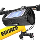 Bike Handlebar Bag Waterproof Front Bag Bicycle Storage Bag with Removable Shoulder Strap and 6 inch Transparent Pouch, Best Gift