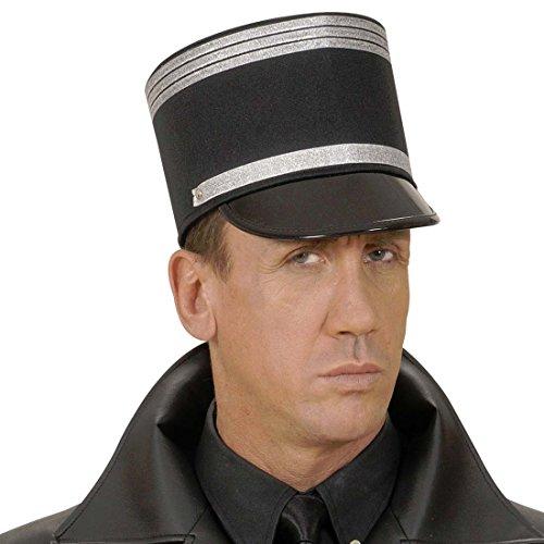 Amakando Gendarm Hut Französische Polizei Mütze Offiziershut Armee Offizier Frankreich Polizist Käppi Kopfbedeckung Soldaten Schirmmütze Fasching Uniform Mottoparty Accessoire Karneval Kostüm Zubehör