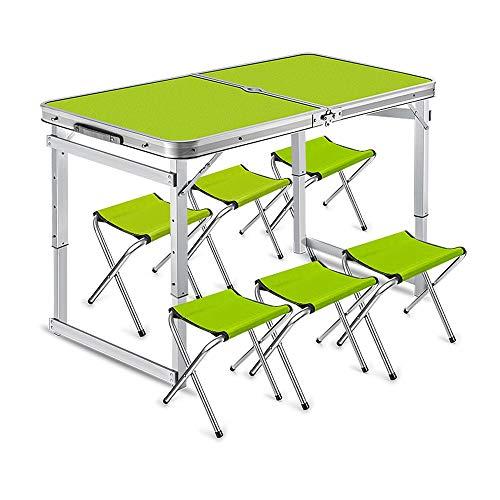 Inklapbare computertafel campingtafel en klapstoel van aluminiumlegering tafelset en draagbare stoelen voor camping buitenshuis.