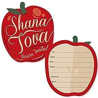 Rosh Hashanah – 形を記入する招待状 – ユダヤ教新年の招待状カード 封筒付き – 12枚セット
