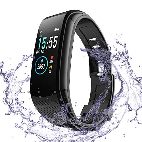 Super me Fitness Tracker with Heart Rate Monitor, Activity Tracker with Pedometer, Waterproof IP67 Standard Smart Watch