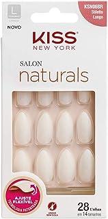Unha Salon Natural Longo Stiletto, Kiss New York
