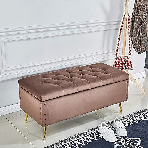 European Style Holzlager Sofa Bank   ändern Schuh Bank Haushaltsaufbewahrungsbehälter   Lange Bank Schlafzimmer Bettfußbank Hocker Multifunktionsrast Hocker GW ( Color : Brown , Size : L80×H45×W45cm )